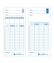 Lathem Universal Time Cards for 400E, Pack of 100