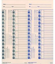 Lathem Bi-weekly time card for 1600E/1000E/1500E/5000EP/900E 2 sided