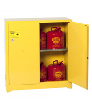 Eagle 1932 Manual Two Door Flammable Safety Cabinet, 30 Gallons, Yellow (Example of Use)