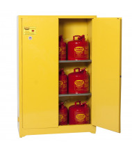Eagle 1947 Flammable Storage Cabinet, 45 Gallons, Yellow (Example of Use)
