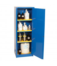 Eagle CRA-1923 Manual One Door Closing Corrosives Acids Safety Cabinet, 24 Gallons, Blue (Example of Use)