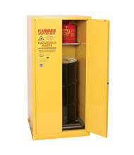 Eagle HAZ1926 Manual Two Door 1-Vertical Drum Hazardous Material Safety Cabinet, 55 Gallons, Yellow (Example of Use)