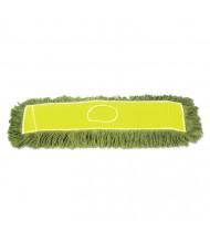 """Boardwalk Echo 36"""" L Dust Mop Head, Green, Pack of 12"""