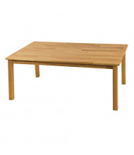 """ECR4Kids 48"""" W x 30"""" D Hardwood Elementary School Table, 22"""" Legs"""