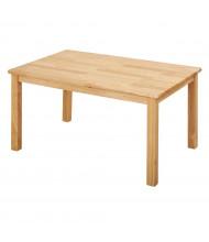 "ECR4Kids 48"" W x 24"" D Hardwood Elementary School Table"