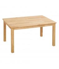 "ECR4Kids 36"" W x 24"" D Hardwood Elementary School Table"