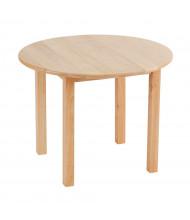"ECR4Kids 30"" Round Hardwood Elementary School Table"
