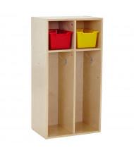 ECR4Kids Birch Streamline 2-Section Toddler Coat Locker