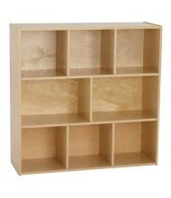 "ECR4Kids 36"" H Birch Streamline 8-Section Classroom Storage"