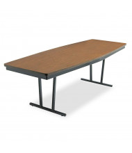 """Barricks 96"""" W x 36"""" D Boat-Shaped Economy Conference Folding Table"""