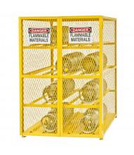 Durham Steel 12 Gas Cylinder Storage Cabinet, Horizontal