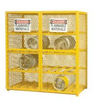 Durham Steel 16 Gas Cylinder Storage Cabinet, Horizontal