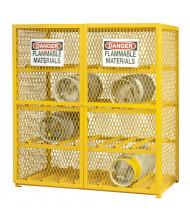 Durham Steel 16 Gas Cylinder Self-Closing Door Storage Cabinet, Horizontal