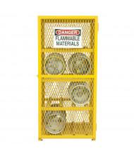 Durham Steel 8 Gas Cylinder Storage Cabinet, Horizontal