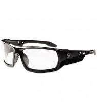 Ergodyne Skullerz Odin Safety Glasses, Black Frame/Clear Lens, Nylon/Polycarb