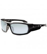 Ergodyne Skullerz Odin Safety Glasses, Black Frame/Indoor/Outdoor Lens, Nylon/Polycarb
