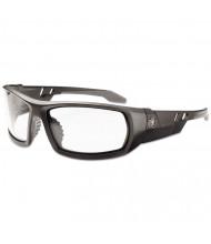 Ergodyne Skullerz Odin Safety Glasses, Matte Black Frame/Clear Lens, Nylon/Polycarb