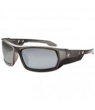 Ergodyne Skullerz Odin Safety Glasses, Matte Black Frame/Silver Lens, Nylon/Polycarb