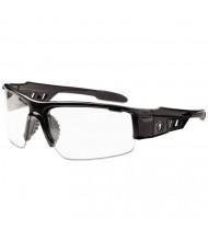 Ergodyne Skullerz Dagr Safety Glasses, Black Frame/Clear Lens, Nylon/Polycarb