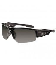 Ergodyne Skullerz Dagr Safety Glasses, Black Frame/Smoke Lens, Nylon/Polycarb