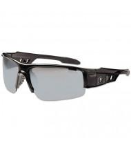 Ergodyne Skullerz Dagr Safety Glasses, Black Frame/Silver Lens, Nylon/Polycarb