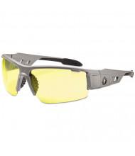 Ergodyne Skullerz Dagr Safety Glasses, Matte Gray Frame/Yellow Lens, Nylon/Polycarb