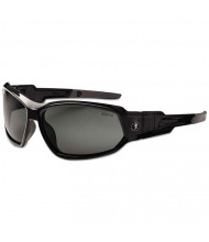 ergodyne Skullerz Loki Safety Glass/Goggle, Black Frme/Smoke Lns, Antifog, Nylon/Polycarb