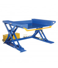 Vestil EHLTG Powered 2000 to 4000 lb Load Ground Lift Scissor Tables
