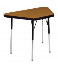 """ECR4Kids 30"""" x 18"""" Height Adjustable Trapezoid School Desk (Shown in Oak / Black)"""