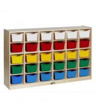 ECR4Kids 30 Cubbie Tray Classroom Storage Unit (Shown with Assorted Bins)
