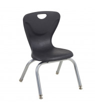 """ECR4Kids 12"""" H Contour Stacking Classroom Chair, 4-Pack (Shown in Black)"""