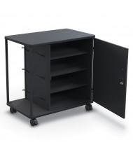 """Mooreco Essentials 37"""" W 4-Shelf Spool Hook 3D Printer Cart"""