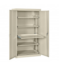 """Sandusky 36"""" W x 24"""" D x 66"""" H Pull-Out Shelves Storage Cabinet (Shown in Putty)"""
