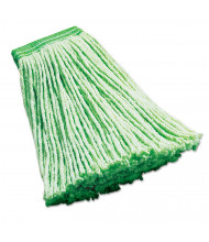 Rubbermaid 16 oz. Synthetic Mop Head, Green, Pack of 6