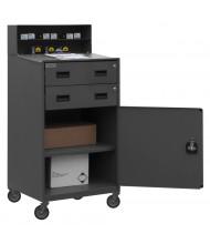 Durham Steel 2-Drawer and Cabinet Steel Mobile Shop Desk 500 lb Capacity