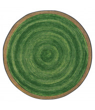 Joy Carpets Feeling Natural Round Classroom Rug, Pine