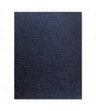 """Fellowes 7.5 Mil 8.5"""" x 11"""" Square Corner Navy Linen Texture Binding Cover, 200/Pack"""
