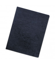 "Fellowes 7.5 Mil 8.75"" x 11.25"" Round Corner Black Binding Cover, 50/Pack"