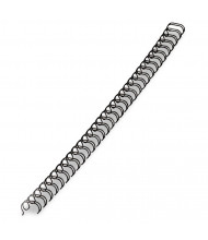 """Fellowes 1/2"""" Wire Binding Spine, 100 Sheet, Black, 25/Pack"""