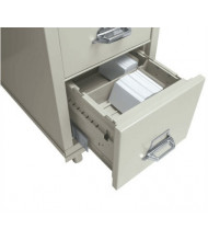 """FireKing 9"""" H x 6"""" W Card Cross Tray with Osciblock for 31"""" D Letter Files (Shown in Parchment)"""
