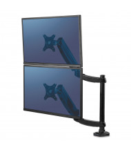 """Fellowes Platinum Series Stacking Dual Monitor Arm Desk Mount for Monitors Up to 27"""""""