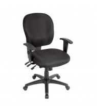 Eurotech Racer FM4087 Multifunction Fabric Mid-Back Task Chair (Shown in Black)
