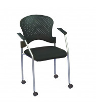 Eurotech Breeze FS8270 Plastic-Back Fabric Low-Back Guest Chair, Casters