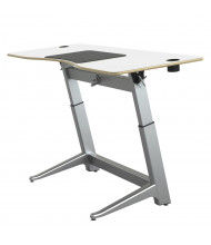 """Safco Focal Locus 72"""" W Crank Height Adjustable Standing Desk (Shown in White)"""