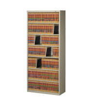 "Tennsco 7-Shelf 78"" H Closed-Back Fixed Shelf File Storage Shelving Unit (Shown in Putty)"