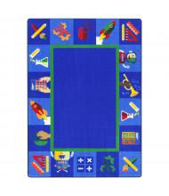 Joy Carpets Full STEM Ahead Rectangle Classroom Rug