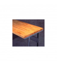 Tennsco Hardwood Workbench Tops without Stringer (Shown Mounted)