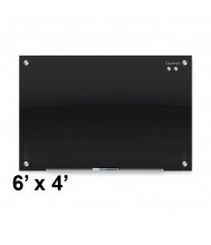 Quartet G7248B Infinity 6 x 4 Black Magnetic Glass Whiteboard (Smaller board shown; actual has six mounting points)