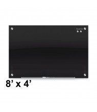 Quartet G9648B Infinity 8 ft. x 4 ft. Black Magnetic Glass Whiteboard (Smaller board shown; actual has eight mounting points)
