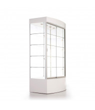 """Tecno GL105C 40"""" Curved Front Rectangular Display Case 73"""" H (white finish with optional micro halogen lights)"""